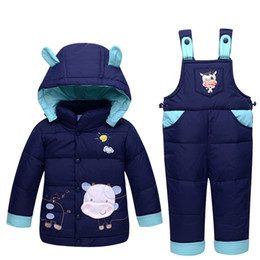 be48f0a389 2017 Winter Children clothing sets Warm baby Boy s Ski suit sets Boy s  Outdoor sport Kids down coats Jackets+trousers Jumpsuit