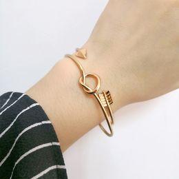 offener armband pfeil Rabatt Plating Arrow Knotted Eröffnung Armbänder Frauen Gold Schmuck Großhandel Einzelhandel Liebe Armband