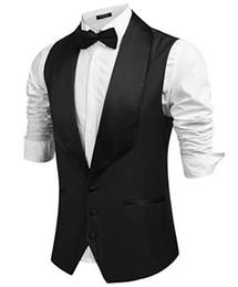 Wholesale u collar - Fashion high-quality U-collar sleeveless men's evening dress vest and business casual men's vest fine workmanship tailor-made