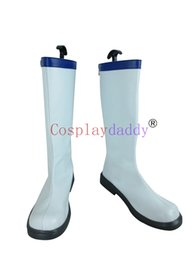 Wholesale Lucy Cosplay - Fairy Tail Lucy Heartphilia White Cosplay Shoes Boots X002