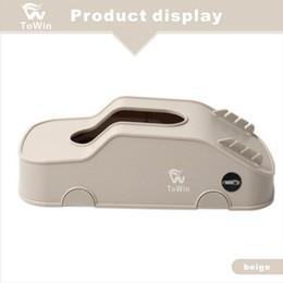 Coperture in pelle marrone in pelle online-Tissue Box Cover Durable Home Car Rectangle Custodia in tessuto in pelle PU Portatovaglioli, pacchetto di tessuti per auto / Nero / Beige / Marrone.