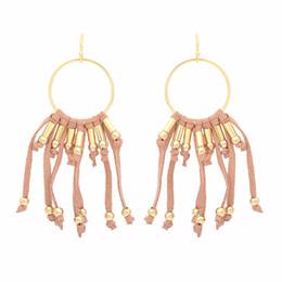 Wholesale Art exquis européen et américain vintage Big Dangle boucles d oreilles velours coréen gland femmes filles cadeau usine de bijoux en gros directe