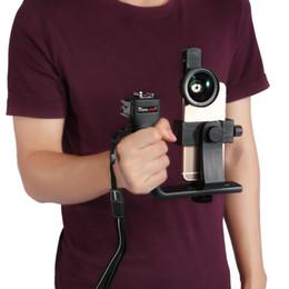 Универсальный держатель объектива онлайн-Универсальный L-образный регулируемый Портативный Bluetooth стабилизатор Рог держатель комплект крепление ж / объектив для смартфона камеры