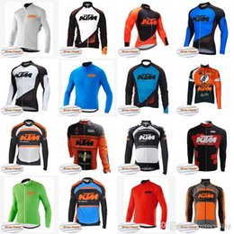 Invierno de la chaqueta de ciclismo online-Equipo de KTM invierno cálido lana de punto chaqueta de manga larga nuevo ciclista de montaña bicicleta de montaña Roba Ciclismo ciclo ropa A42317