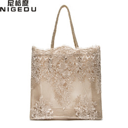 Wholesale Red Dinner Wedding Dress - Lace lace ladies handbag 2017 summer new Dinner Wedding Bridal Party Hand Bag bolsa feminina Women's shoulder bag Shopping Bag
