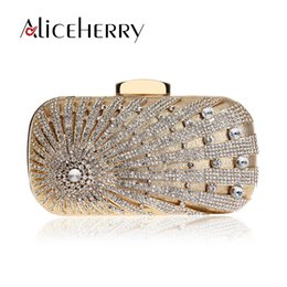 bridal box clutch bag Coupons - Luxury Handbags Women Bags Designer Diamond Evening Bag Gold Silver Banquet Party Box Purse Bridal Day Clutches Bag Real Price