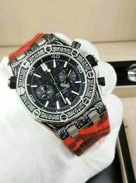 3983fe51a5c6 ... mayor nuevo estilo de moda para hombre reloj negro 43mm dial caso  antiguo tres colores correa de caucho reloj zafiro VK movimiento automático  relojes