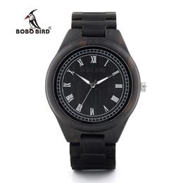 e29bdd262f0 pt Relógios de pulso de quartzo BOBO BIRD Relógios de madeira Homens Natural  Wood Strap Handmade Japão Movimento Quartz Relógio de pulso Luxo Mens G .  ...