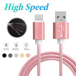 Cable USB de alta calidad tipo C 3 pies 6 pies 10 pies para Android Personalizado Cargador de teléfono de alta velocidad Cable de datos de sincronización para teléfonos celulares Android desde fabricantes