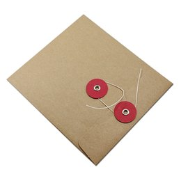 Wholesale Dvd Envelopes - 180Pcs Lot DHL Kraft Paper Package Case Craft Gift Envelope For Single Disc CD DVD Pack Pouch Party Favors Brown Card Bag