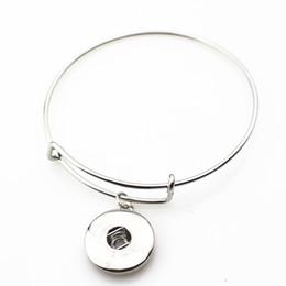 10pcs / lot en métal argent gingembre snap ajustable bracelets extensibles réglables pour 18mm boutons pression bijoux ? partir de fabricateur