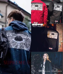 Wholesale Boxing Jacket - 17SS FW Box Anime Hip Hop fear of god Akira Pill Tee Skateboard Cool JACKET Men Women Cotton Casual Cartoon jacket free drop shipping