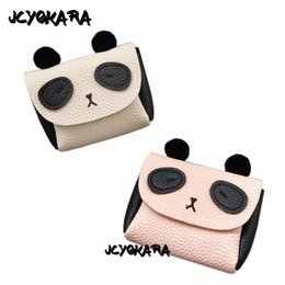 monederos lindos hechos a mano Rebajas JCYOKARA Niñas Pequeño Panda Monedero Bebé Niños Hecho A Mano PU Panda Messenger Bag 2017 Moda Lindo Bolso Para Niñas Alrededor de 13 * 11.5 cm