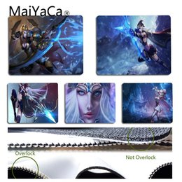 Wholesale coolest mouse pads - MaiYaCa Vintage Cool Ashe Gaming Mouse Pad Size for 18x22cm 25x29cm Rubber Rectangle Mousemats