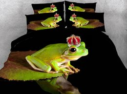 crib animals 2018 - JF-137 Fairy Tale The Frog Prince Print bed cover 3D twin size for single bed