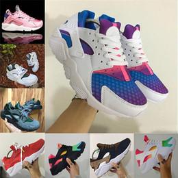 Zapatillas personalizadas online-Venta al por mayor 2018 Huarache ID Custom Running Shoes For Men azul marino tan Air Huaraches Sneakers diseñador Huraches marca Hurache entrenadores 36-46