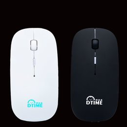 Wholesale Notebook Usb - Wireless mouse ultra thin silent voice electricity mouse optoelectronic portable USB lovely notebook office