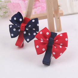 Wholesale Trinket Accessories - 2pcs Big Bow Dot Children Kids Baby Girls Hair Clip Hairclips Hairgrips Hairpins Barrettes Headwear Ornament Trinket Accessories