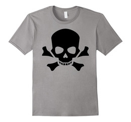 Wholesale Pirate Men Costume - Angry Skull Crossbones Jolly Roger Pirate Costume T-Shirt