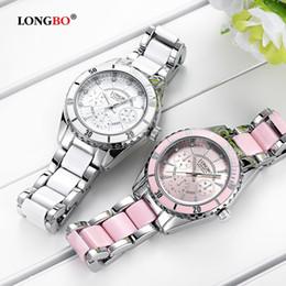 123989a3f1f mulher relógio longbo Desconto Longbo marca de moda assista mulheres de luxo  de cerâmica e liga