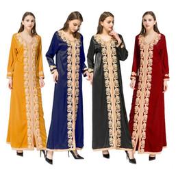 Mode Dubaï Abaya robe Kaftan Turc Musulman Perles Broderie Femmes Vêtements Islamiques Abayas Jilbab Musulmane Vestidos ? partir de fabricateur