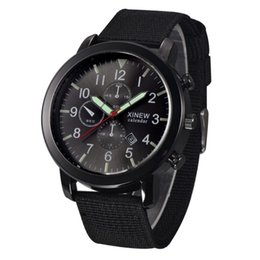 горячая дата часы Скидка Fast Sending Hot Sale Mens  Quartz Army Watch Black Dial Date  Sport Wrist Watch Bracelet Gift DropShipping l810