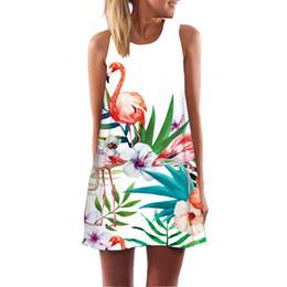 2019 перья фламинго летнее платье женщины vestidos mujer 2018 перья лебедь богемные платья пляж Boho мини миди цветочные фламинго платье большого размера скидка перья фламинго