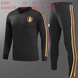 Chaquetas de jersey de niños online-2018 Bélgica niños Bélgica chándal manga larga Survetement 18 Jersey formación traje niños chandal ropa deportiva chaqueta de fútbol