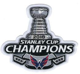 2018 Stanley Cup Finals Campeões Washington Capitals bordado Patch stitch patch costurado em frete grátis sem tamanho de