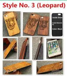 Estilo no. 3 (leopardo) noz cereja rosa madeira maple madeira sandália vermelha madeira de bambu premium tampa traseira case para iphone x 8 7 6 s 6 plus dentro do pc de