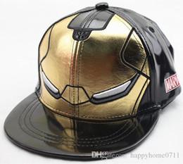 Casquette de baseball pour enfants Iron Man en PU Haute qualité 3 couleurs en option Taille ajustable Iron Man cosplay prop chapeau cadeau de fête ? partir de fabricateur