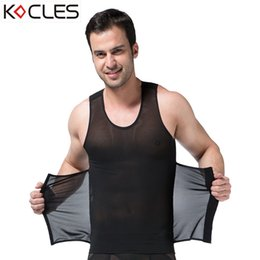 4c97fc4350528 wholesale New Men Slimming Vest Belts Body Shaper Waist Cincher Abdomen  Belly Control Slim Underwear Reduce Weight Zerobodys Hot Shapewear