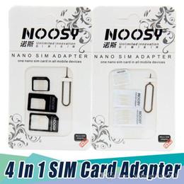t мобильный iphone 4s Скидка 500 / лот шт. 4 в 1 Noosy nano SIM-карты адаптер + Micro Sim-карты адаптер + стандартный адаптер SIM-карты для iPhone 7