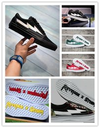 Wholesale Sky Laser Lighting - Wholesale Revenge x Storm Old Skool Black laser Casual Shoes Kendall Jenner best Footwear Ian Connor Revenge x Storm Fashion Current Shoe