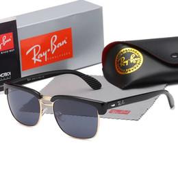 Wholesale boy children sunglasses - Parent-child metal frame sunglasses for men and women general eyeglasses fashionable and cool eyeglasses retro plain mirror manufacturers