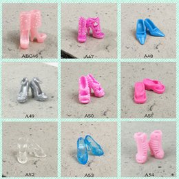 Chaussure de cuisson en Ligne-Plain Body Doll General Shoe Accessories Middle And Short Boots High Heeled Shoes For Baking Cake Shoe Accessory
