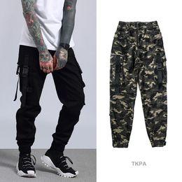 Wholesale cargo bottoms - Kanye High Street Cargo Pants Camouflage Big Pocket Casual Men Jogger Pants Brand Designer Bottom Clothing