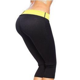 Wholesale Female Bodybuilding Fitness - Women BodyBuilding Neoprene Sauna Shapers Sweat Female Control Panties Pants Slimming Fitness Super Stretch Elastic Shapers