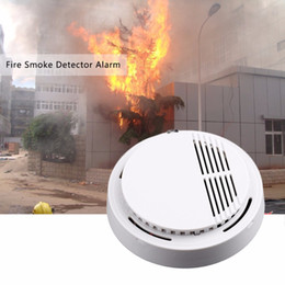 Wholesale Office Alarm - Fire smoke detector alarm Monitor Home Security System Standalone Smoke Photoelectric Detector for Family Guard Office building Restaurant