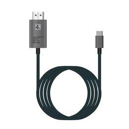 2019 cable dvi d vga 4K USB Tipo C 3.1 A HDMI HDTV AV Adaptador digital de alta velocidad Fecha Cable de sincronización para Samsung S8 S9 Plus Huwei P10