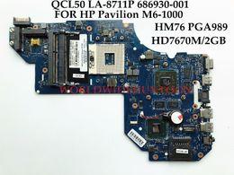 Wholesale Motherboard Hp Pavilion - Brand New High quality QCL50 LA-8711P FOR HP Pavilion M6-1000 Laptop Motherboard 686930-001 SLJ8C HM76 PGA989 DDR3 HD7670M 2GB