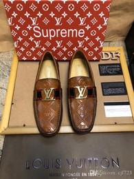 guantes de vestir Rebajas Alta calidad Mens Designer Slides Shoes Mens Dress Casual Mocasines Zapatos Superstar Alta calidad Retros Luxury Designer Brand Size 38-45