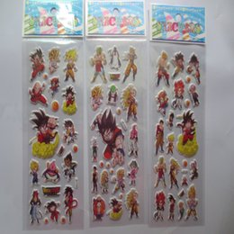 Wholesale Reward Stickers - wholesale 200pcs Anime Dragonball Cartoon wall stickers,3D Dragonball DIY bubble stickers,For Kids Festival Gift Rewards stickers