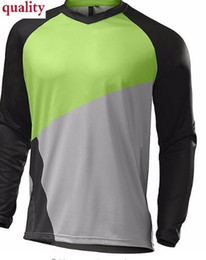 Wholesale sky long sleeve cycling jersey - 2018 New Long sleeves Jerseys Motorcycle Moto cycling DH Mountain Bike Bicycle Cycling Jersey MX ATV Off Road Wear Clothing H
