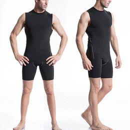 Wholesale Chaleco Slim Fit - 2017 New Fashion Men Compression Tank Top Base Layer Sleeveless Workout Slim Fit Tight Vest Veste Chaleco Colete maschi Gilet