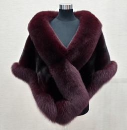 2019 eleganti bolero chiffon 8 colori Grigio / blu / bianco / nero faux fur wrap avvolgere da sposa faux fur shrug faux fur stole scialle capo