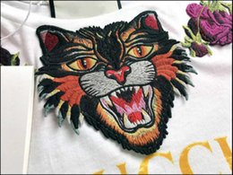 Wholesale Tees For Women - Fashion Blind For Love Embroidery Tiger Head T-Shirt Women Fashion Casual Short Sleeve Tops Tees T Shirts