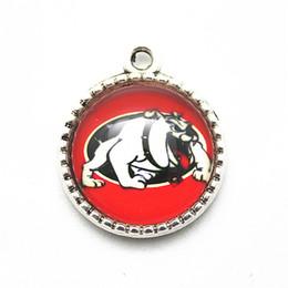 bracciali bulldog Sconti 20pcs / lot NCAA Georgia Bulldogs Squadra Sport Ciondolo Ciondola i fascini che appendono i fascini dell'accessorio dei monili del braccialetto di DIY