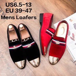 2018 robes de bal noir or hommes Velvet Loafers Pantoufles avec des  chaussures de robe de 402f2f2ff826