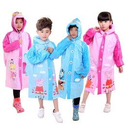Wholesale Boys Rain Jacket - WINSTBROK 2017 New Children Waterproof Raincoat Kids Rain Coat Jacket Girls Boys Hiking Rainwear Impermeable Raincoat